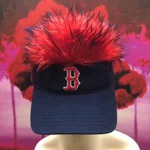 db18c8d4b5d NWT Boston Red Sox Flair Hair Visor Red & Blue NWT
